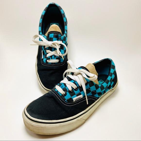 Vans Shoes | Vans Era Checkered Teal